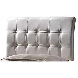Hillsdale Lusso Upholstered Twin Headboard in White