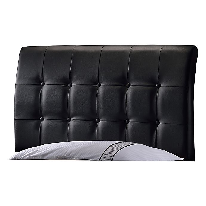 Alternate image 1 for Hillsdale Lusso Upholstered Twin Headboard in Black