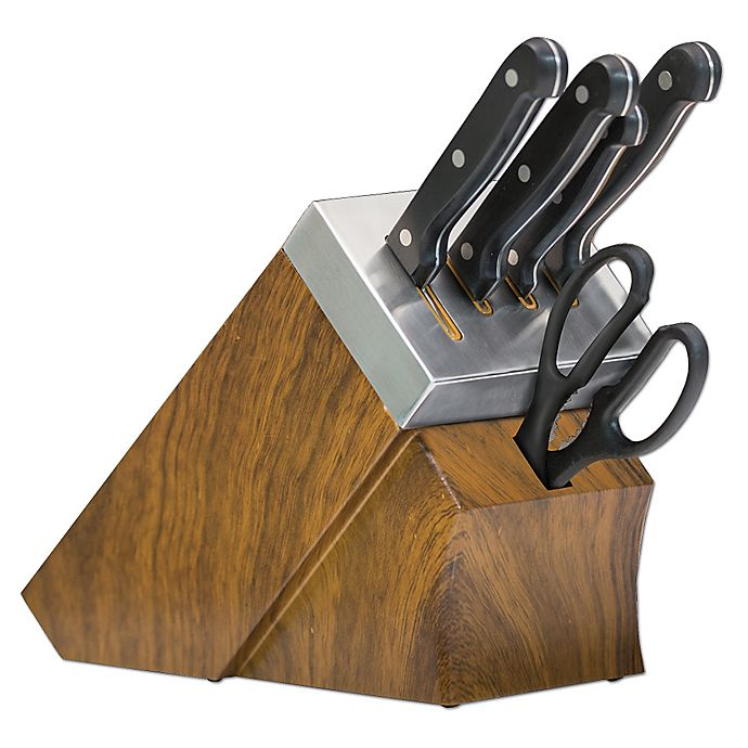 Alternate image 1 for Chef's Edge 10-Piece Self-Sharpening Knife Block Set