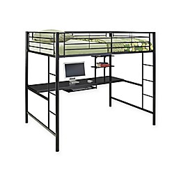 Forest Gate Riley Metal Loft Bed with Desk