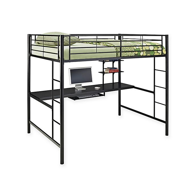 Alternate image 1 for Forest Gate Riley Metal Loft Bed with Desk