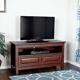 """Forest Gate 44"""" James Traditional Wood TV Stand Console in Brown"""