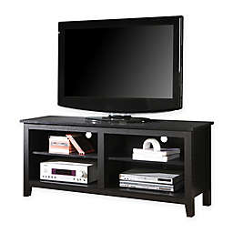 """Forest Gate 58"""" Wood Media TV Stand Console in Black"""