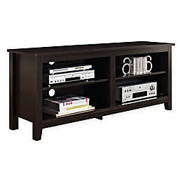 """Forest Gate 58"""" Wood Media TV Stand Console in Espresso"""