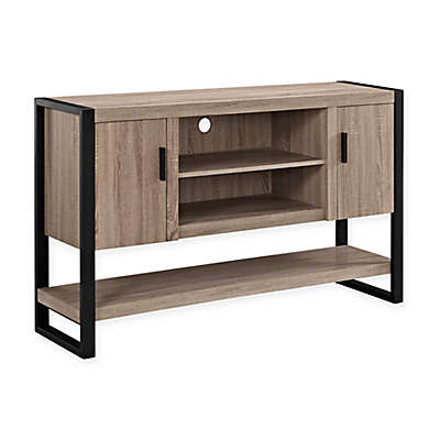 "Forest Gate 60"" Zeke Industrial Modern Wood Metal TV Stand Console in Driftwood"