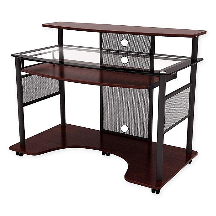 Z Line Designs Cyrus Computer Desk In Cherry Bed Bath