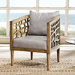 INK+IVY® Crackle Lounge Chair in Light Grey