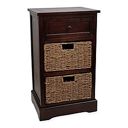 Décor Therapy Storage Chest Side Table in Walnut