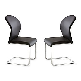 Steve Silver Co. Tayside Dining Chairs in Black (Set of 2)