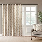 Madison Park Saratoga 84-Inch Grommet Top Patio Door Window Curtain Panel in Beige