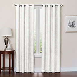 Quinn 63-Inch Grommet Top 100% Blackout Window Curtain Panel in White