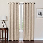 Quinn 84-Inch Grommet Top 100% Blackout Window Curtain Panel in Linen