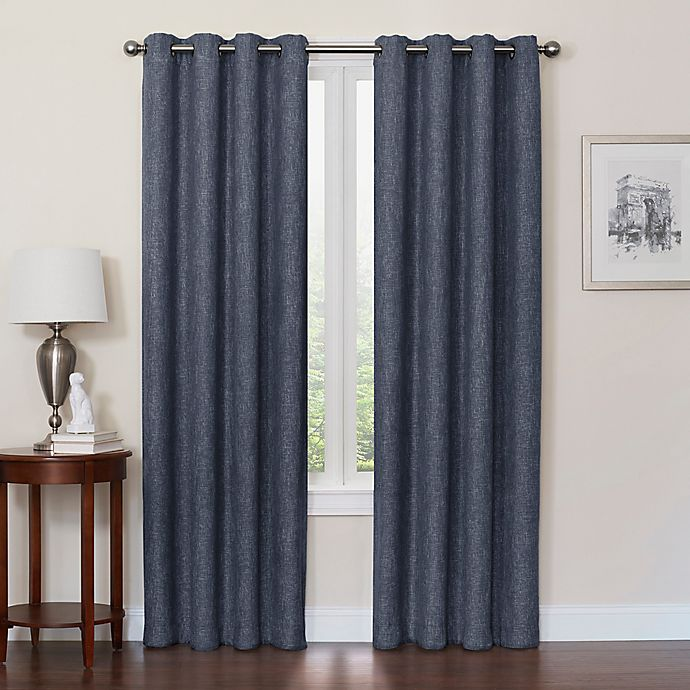 Alternate image 1 for Quinn 108-Inch Grommet Top 100% Blackout Window Curtain Panel in Navy