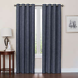 Quinn 108-Inch Grommet Top 100% Blackout Window Curtain Panel in Navy