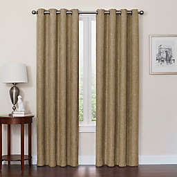 Quinn 95-Inch Grommet Top 100% Blackout Window Curtain Panel in Mocha