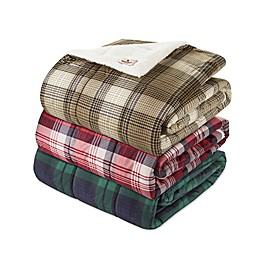 Woolrich® Anderson Printed Quilted Knitted Mink Throw