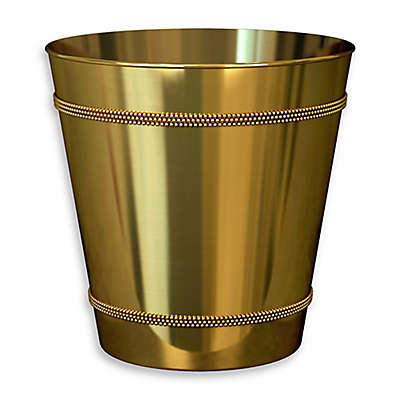 Beaded Metal Wastebasket