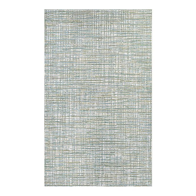 Alternate image 1 for Couristan® Cape Falmouth 3-Foot 11-Inch x 5-Foot 6-Inch Indoor/Outdoor Rug in Ivory/Hunter