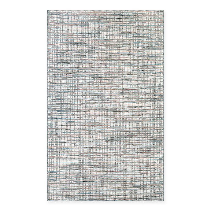 Alternate image 1 for Couristan® Cape Falmouth 5-Foot 3-Inch x 7-Foot 6-Inch Indoor/Outdoor Rug in Ivory/Coral