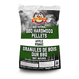 Pit Boss 40-lb. Bag of Hardwood BBQ Pellets Grilling Fuel in Apple