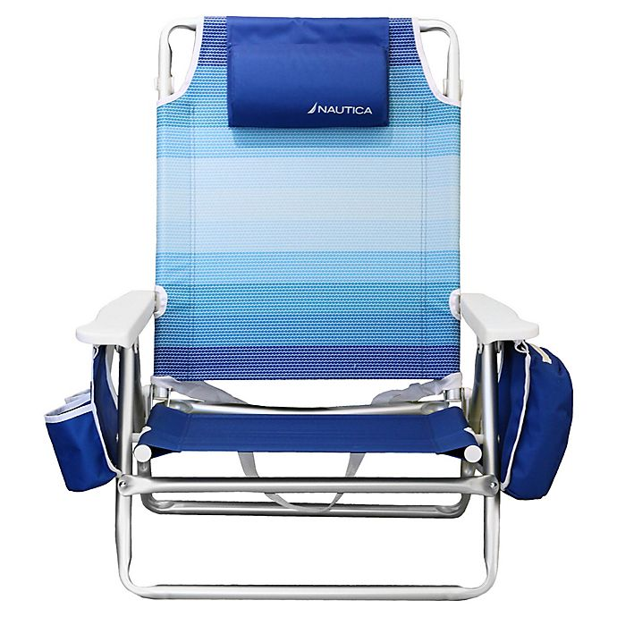 Marvelous Nautica 5 Position Beach Chair Frankydiablos Diy Chair Ideas Frankydiabloscom