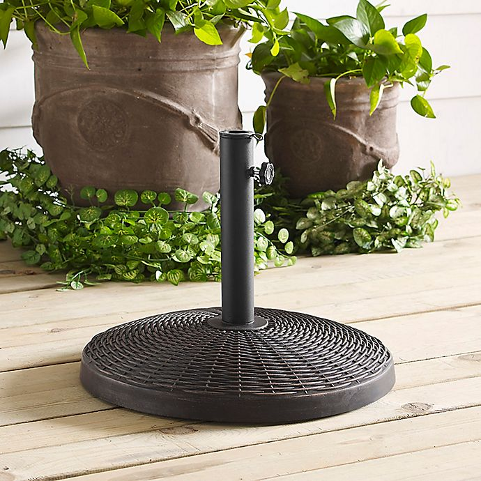 Alternate image 1 for Forest Gate Wicker Style Round Umbrella Base