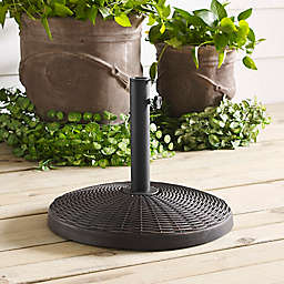 Forest Gate Wicker Style Round Umbrella Base
