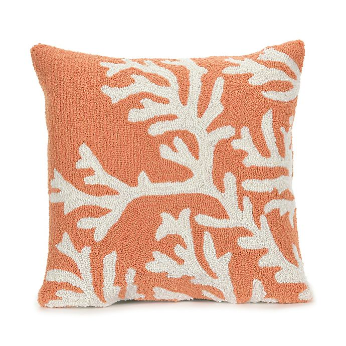 Alternate image 1 for Liora Manne Coral Indoor/Outdoor Throw Pillow