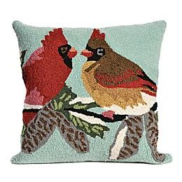 Liora Manne Cardinals Indoor/Outdoor Throw Pillow in Sky