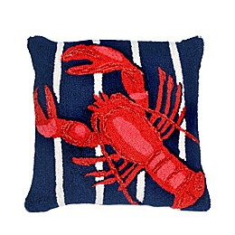 Liora Manne Lobster Indoor/Outdoor Throw Pillow in Navy