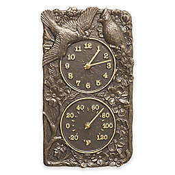 Whitehall Products Cardinal Outdoor Wall Clock and Thermometer