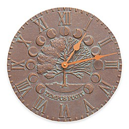 Whitehall Products 12-Inch Times and Seasons Indoor/Outdoor Clock in Copper