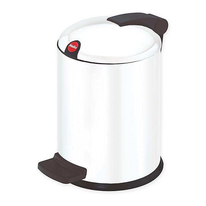 Alternate image 1 for Hailo Trento 4-Liter Trash Can in White