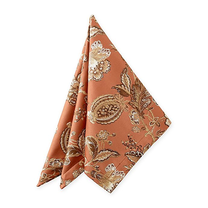 Alternate image 1 for Waterford® Linens Williamsburg Napkin in Copper (Set of 2)
