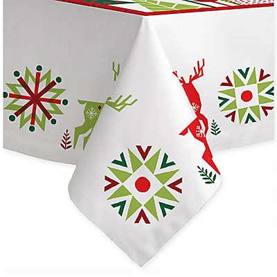Laural Home Geometric Christmas Tablecloth