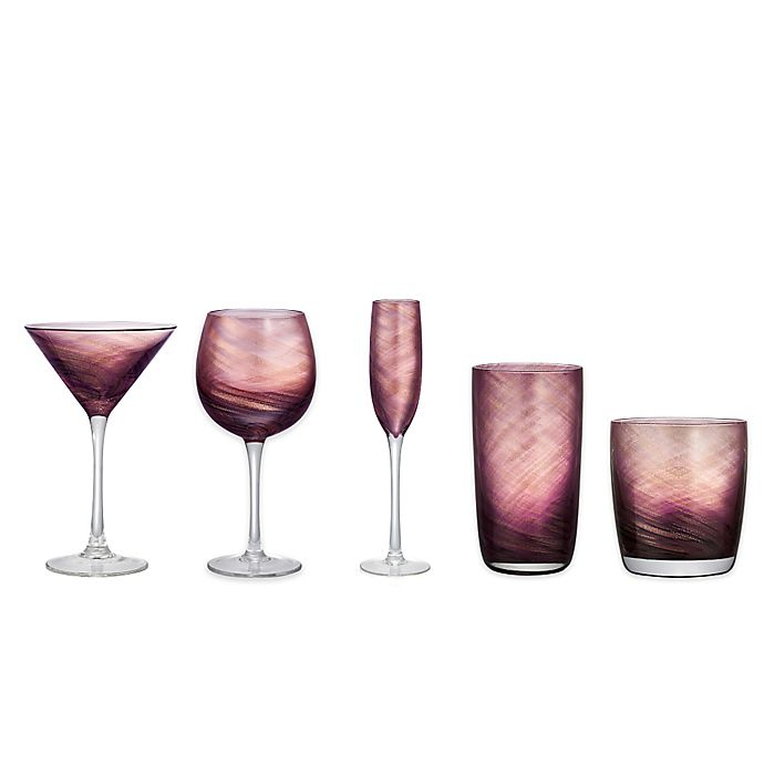 Alternate image 1 for Artland® Misty Stemware Collection in Purple (Set of 4)