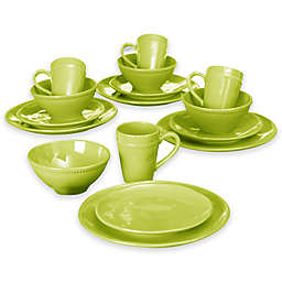 Euro Ceramica Al Garve 16-Piece Dinnerware Set in Green