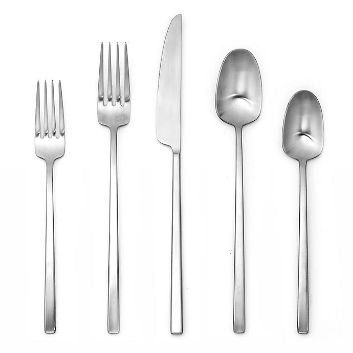 Alternate image 1 for Artisanal Kitchen Supply® Edge 20-Piece Flatware Place Setting in Satin