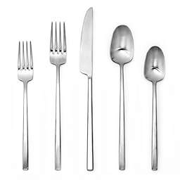 Artisanal Kitchen Supply® Edge 20-Piece Flatware Place Setting in Satin