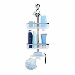 OXO Good Grips® 3-Tier Shower Caddy in Stainless/White