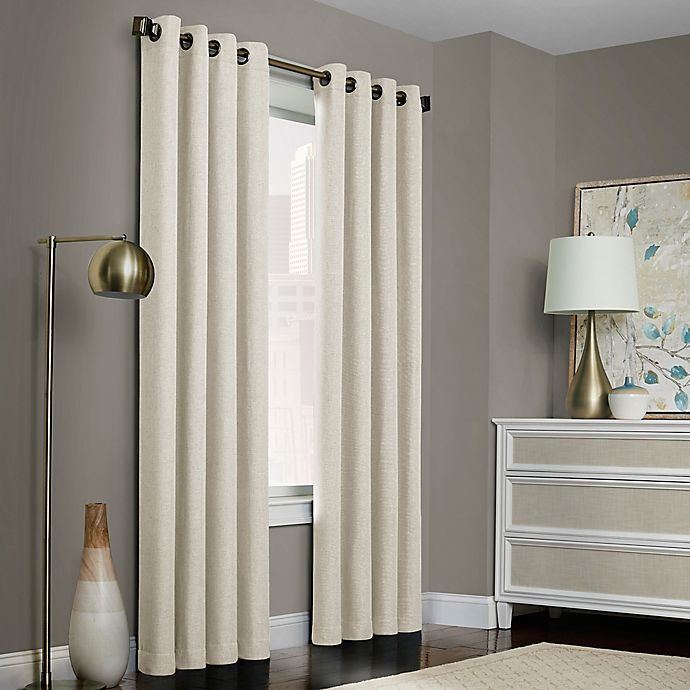 Alternate image 1 for Brielle Solid Grommet Top Window Curtain Panel