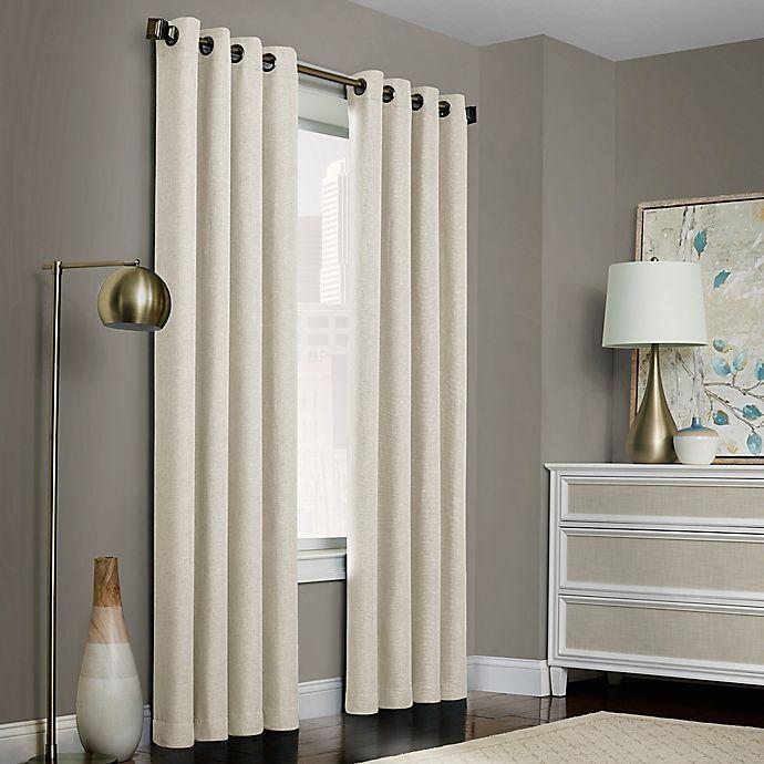 Brielle Solid Grommet Top Window Curtain Panel Bed Bath Beyond