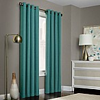 Brielle Solid 84-Inch Grommet Top Window Curtain Panel in Blue