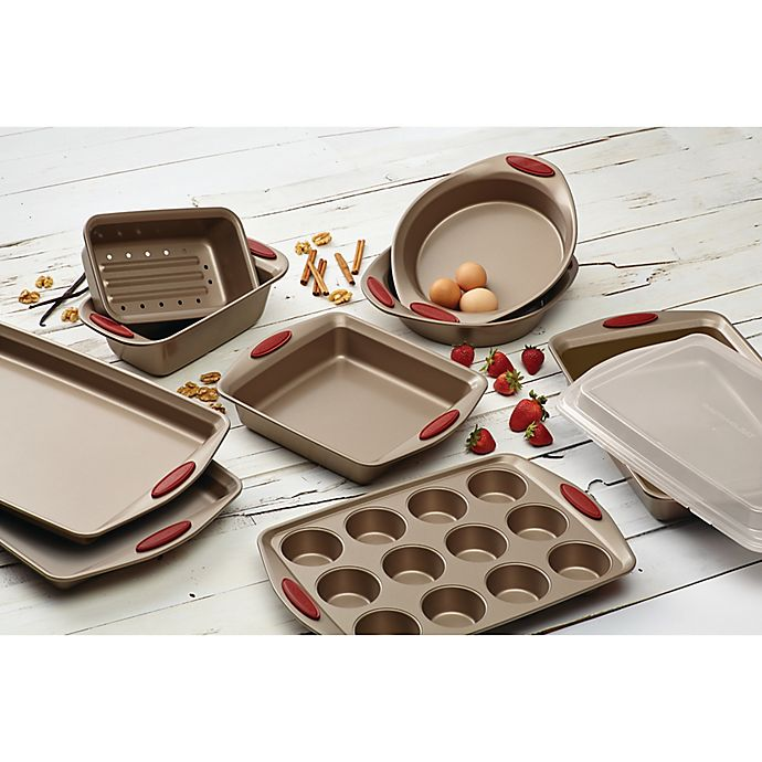 Alternate image 1 for Rachael Ray™ Cucina Non-Stick Bakeware Collection in Brown/Red