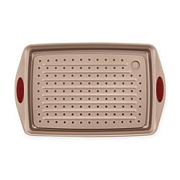 Rachael Ray™ Cucina Non-Stick 2-Piece Jelly Roll Crisper Pan Set in Brown/Red