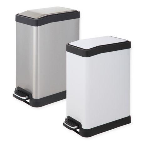 testrite rectangular 8 liter step trash can bed bath beyond. Black Bedroom Furniture Sets. Home Design Ideas