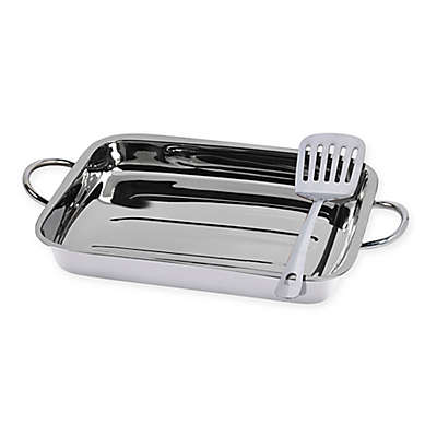 Tabletops Unlimited® 2-Piece Stainless Steel Lasagna Pan Set