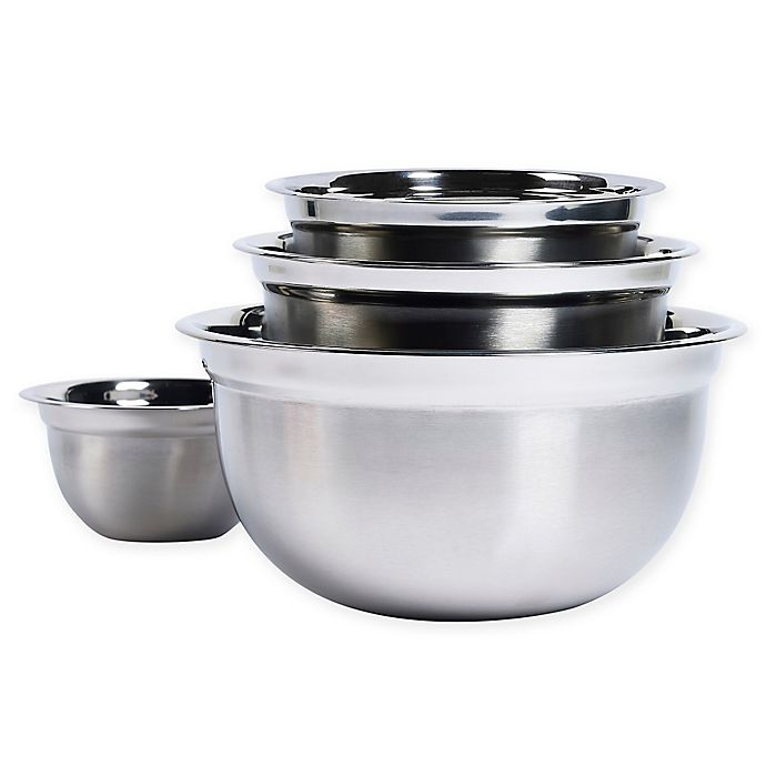 Alternate image 1 for Tabletops Unlimited® 4-Piece Stainless Steel Mixing Bowl Set