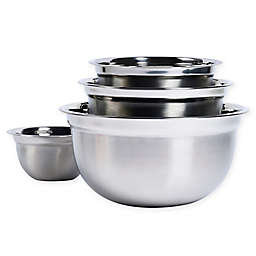 Tabletops Unlimited® 4-Piece Stainless Steel Mixing Bowl Set