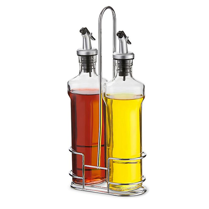 Oil And Vinegar Cruet Set With Wire Caddy View A Larger Version Of This Product Image